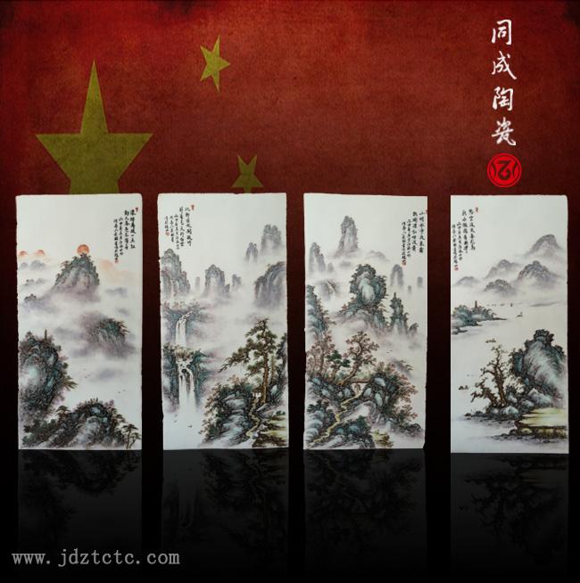 天津客戶粉彩瓷板畫定制案例
